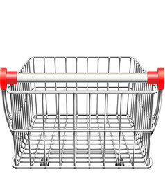 Supermarket cart rear view vector