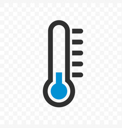 thermometer low cold temperature scale icon vector image