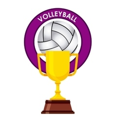 trophy award design vector image
