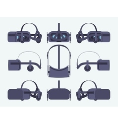 Virtual reality headset vector