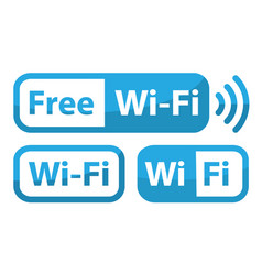 Wifi sign flat design free zone vector
