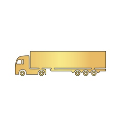 Big Truck computer symbol vector image vector image