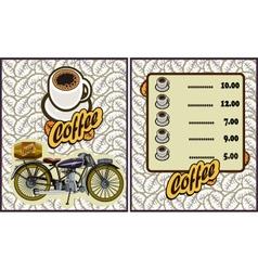 coffee shop design elementsMotorcycle vector image