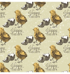 easter seamless with chick vector image