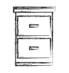 file cabinet document sketch vector image vector image