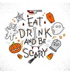 Halloween poster flat vector image vector image