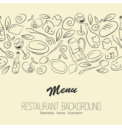 seamless restaraunt background with copyspace vector image vector image