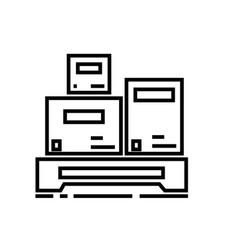 cargo measurement line icon sign vector image