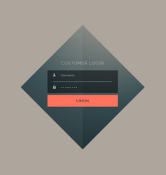 customer login form design with username and vector image vector image