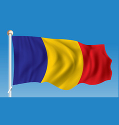 flag of chad vector image vector image