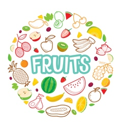 Fruit Circle Frame vector image
