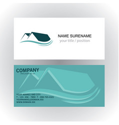 home real estate company logo business card vector image