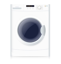 Realistic washing machine vector image vector image