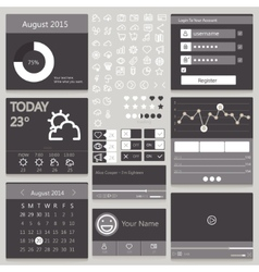 Set elements used for user interface black vector image vector image