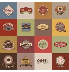 Set of coffee labels badges and logos for design vector image vector image