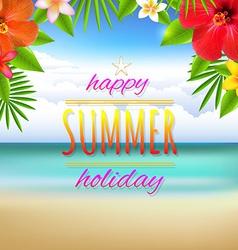 Beach Landscape Card vector image vector image