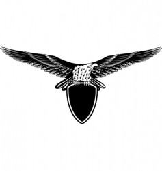 eagle with straightened wings vector image