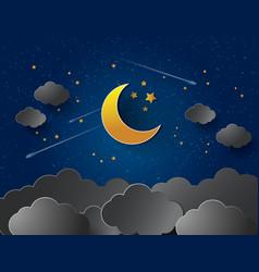 half moon vector image