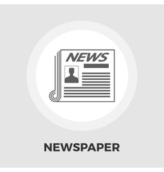 Newspaper icon flat vector image vector image