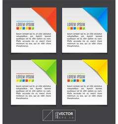 Paper sheets with colorful corners vector image