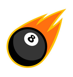 sport ball fire pool vector image vector image