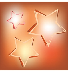 stars on shining background vector image vector image