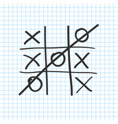 tic tac toe noughts and crosses board game icon vector image vector image