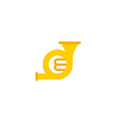 flat icon french horn element vector image