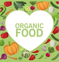 organic food fresh harvest image vector image vector image