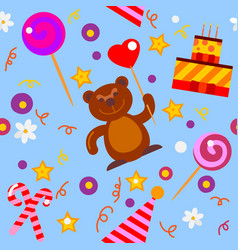 seamless birthday pattern vector image