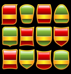 various shape badges set vector image vector image
