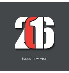 2016 Happy new year creative card design vector image