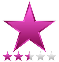 3d beveled star with rating vector