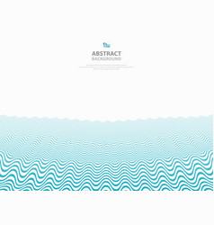 abstract blue wavy pattern stripe lines ocean sea vector image