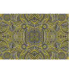 abstract ethnic vintage yellow and grey background vector image
