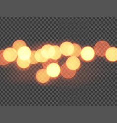 Abstract orange bokeh circles vector