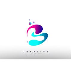 B letter design logo rainbow bubble gum letter vector