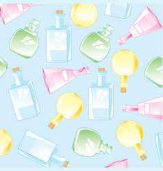 Background from bottles vector
