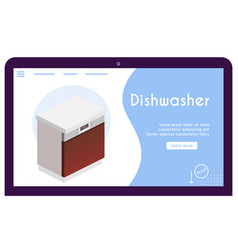 banner dishwasher in isometric view vector image