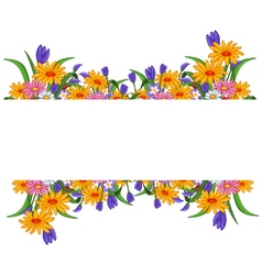 banner with flowers frame vector image