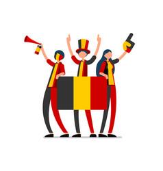 belgian flag belgium people day vector image