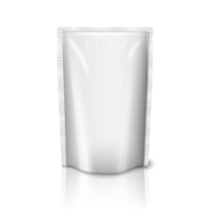 Blank realistic plastic pouch isolated on white vector image
