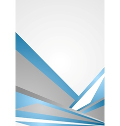 Blue and grey corporate background vector