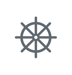 Boat steering wheel icon vector