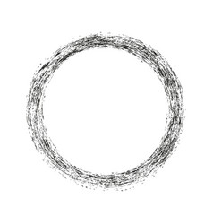 brush strokes circles of paint on white vector image
