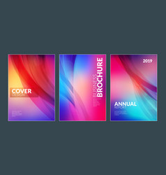 business brochure cover design templates modern vector image
