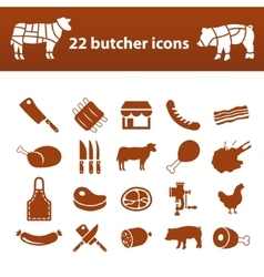 butcher icons vector image