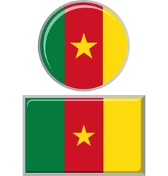 Cameroon round and square icon flag vector
