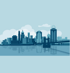 Cincinnati skyline vector