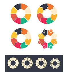 Circles infographic vector